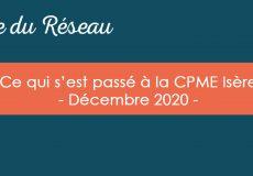 Actualités CPME Isère : Décembre 2020