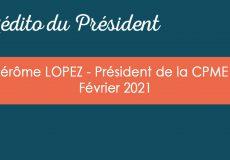 L'édito du Président – Février 2021