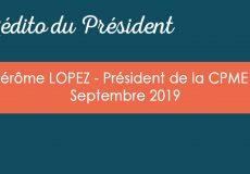 L'édito du Président – Septembre 2019