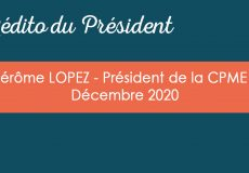 L'édito du Président – Décembre 2020